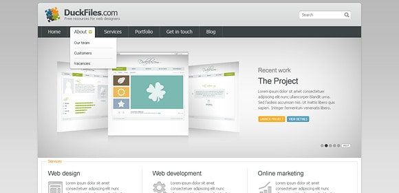 35 Stunning and Free PSD Website Templates
