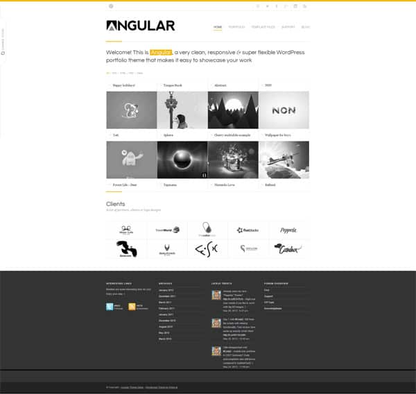 Angular 50 Free and Premium Responsive WordPress Themes