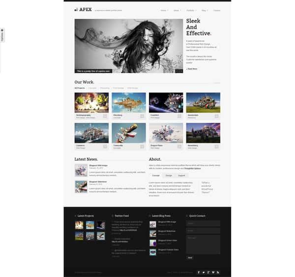 Apex 50 Free and Premium Responsive WordPress Themes