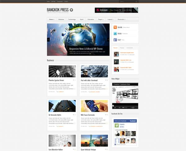 Bangkok Press 50 Free and Premium Responsive WordPress Themes