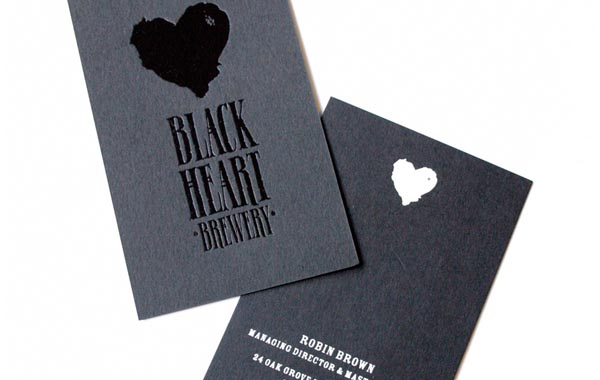 Business Card Black Heart Bewwery 20+ Impressive High quality Business cards