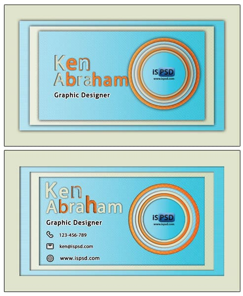 Circular ring 15+ Business Card Templates with Multi Color Background