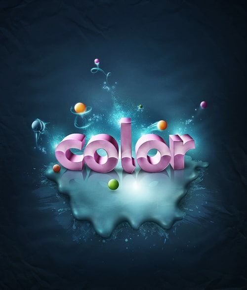 Color to 3D Text 25+ Awesome 3D Text Effects Photoshop Tutorials