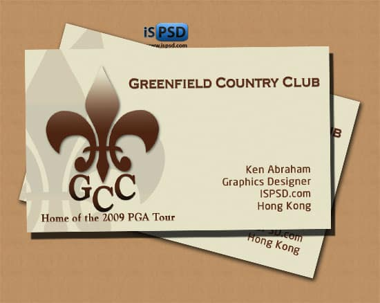 Country Club PSD Freebies : A collection of 40+ White Colored Business Cards