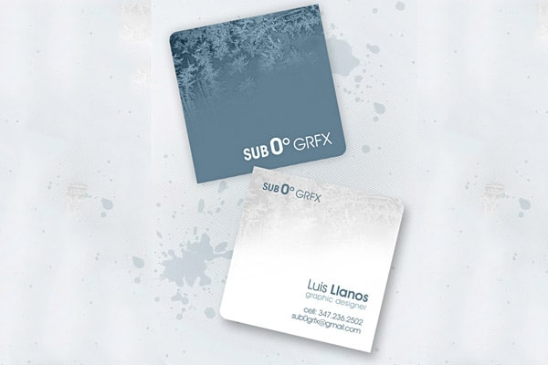 Creative Square business card Design 50+ Brilliant Square Business Cards