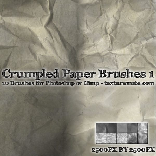 Crumpled Paper Brushes01 20 Old and Free Paper Brushes
