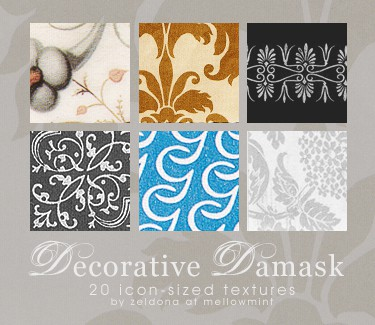 Decorative 20 Cool Damask Textures and Patterns Collections