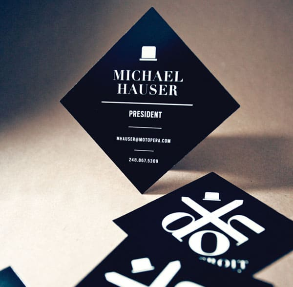 Detroit Opera House 50+ Brilliant Square Business Cards
