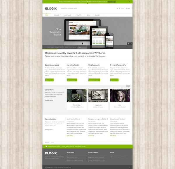 ELOGIX Mobile Ready 50 Free and Premium Responsive WordPress Themes