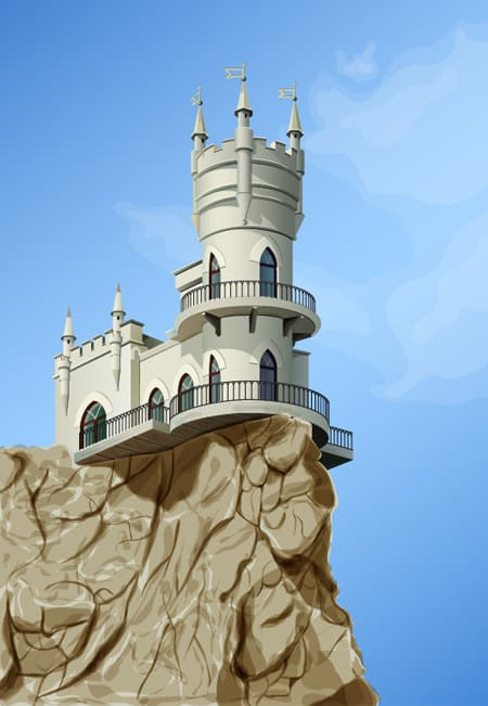 Fairy Castle 40 Simple Adobe Illustrator Tutorials