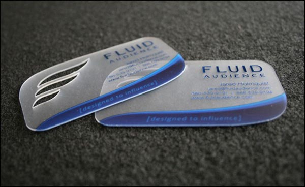 FluidAudience 60+ Cool Transparent Business Card Designs