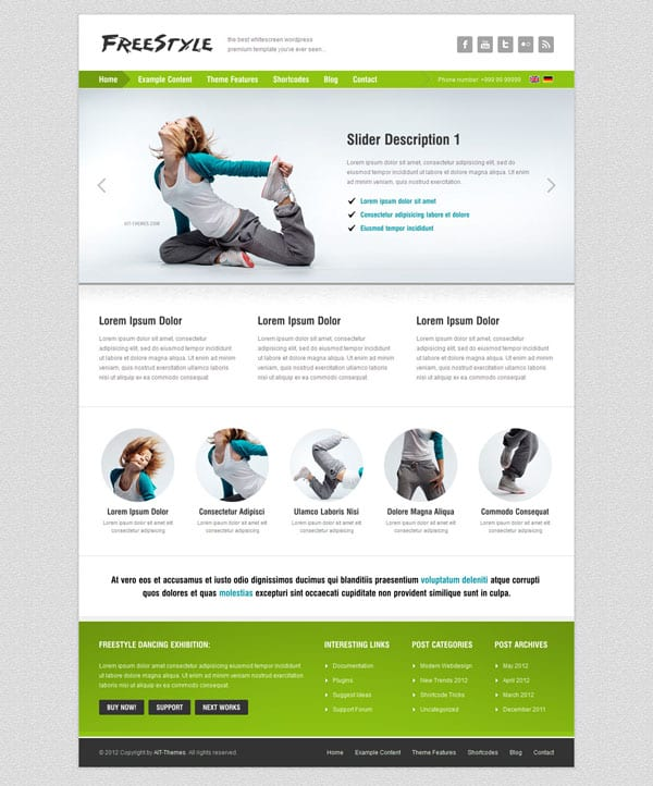 Freestyle 50 Free and Premium Responsive WordPress Themes