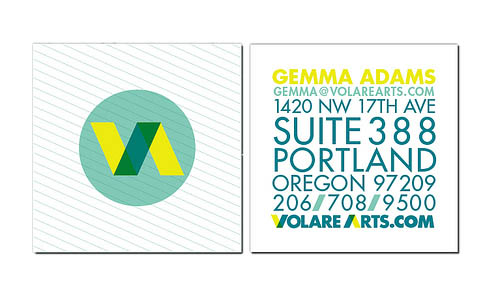 Gemma Adams 50+ Brilliant Square Business Cards