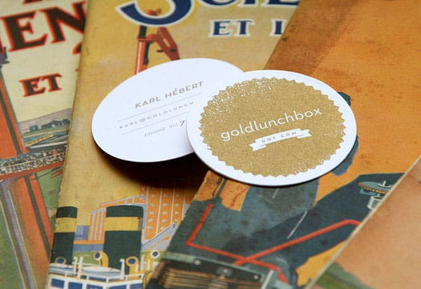 Goldlunchbox Buisness Cards 30+ Creative Round Business Cards
