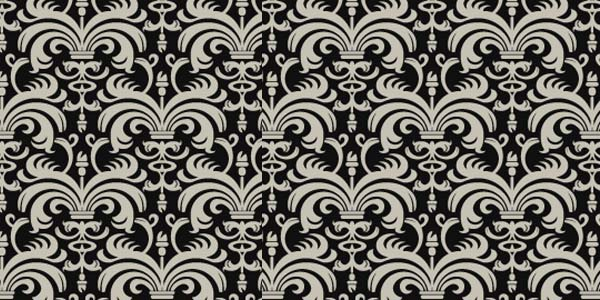 Gothic Mono 20 Cool Damask Textures and Patterns Collections