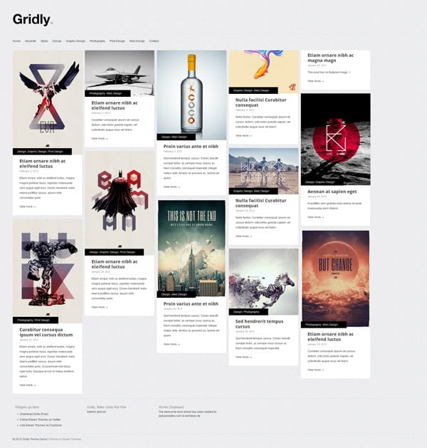 Gridly Theme 50 Free and Premium Responsive WordPress Themes