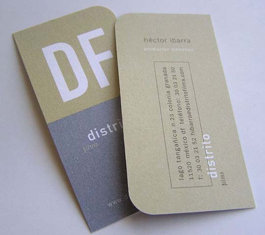 Hector Ibarra Distrito Films 60+ Embossed Business Cards for Inspiration