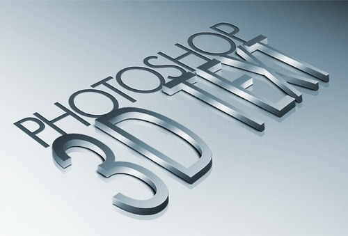 High Quality Metal 3D 25+ Awesome 3D Text Effects Photoshop Tutorials