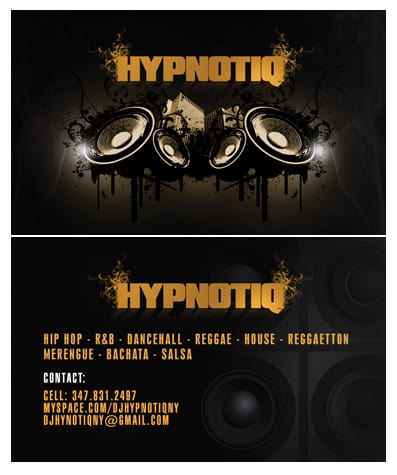 Hypnotiq Business Card by Alucard309 50+ Dj Music Business Cards & Designs