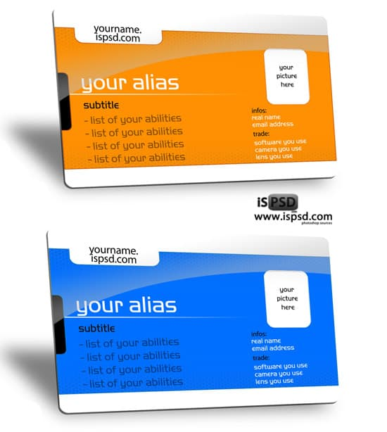 ID template 15+ Business Card Templates with Multi Color Background