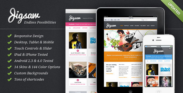 Jigsaw 50 Free and Premium Responsive WordPress Themes