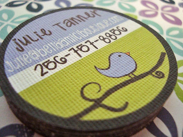 Julie Tanner 30+ Creative Round Business Cards