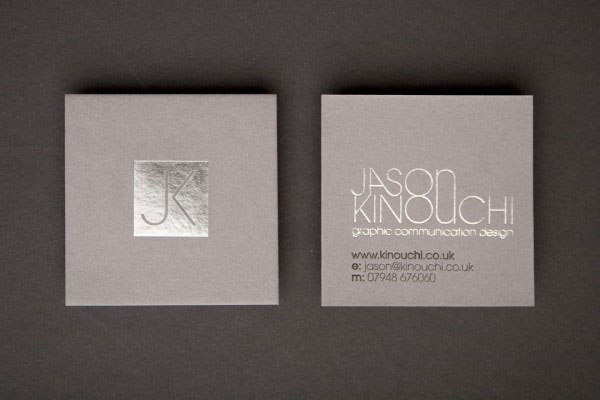 Kinouchi1 50+ Brilliant Square Business Cards