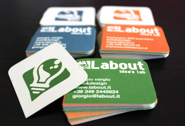 Labout card set 50+ Brilliant Square Business Cards