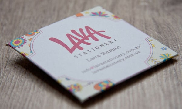 Lava 50+ Brilliant Square Business Cards