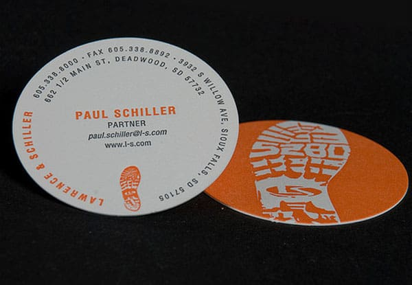 Lawrence Schiller Business Cards 30+ Creative Round Business Cards