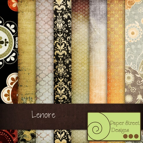 Lenore paper 20 Cool Damask Textures and Patterns Collections
