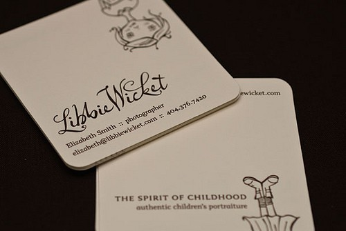 Libbie Wicket Brand 50+ Brilliant Square Business Cards