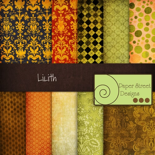 Lilith 20 Cool Damask Textures and Patterns Collections