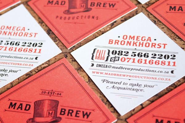 Mad Brew 50+ Brilliant Square Business Cards