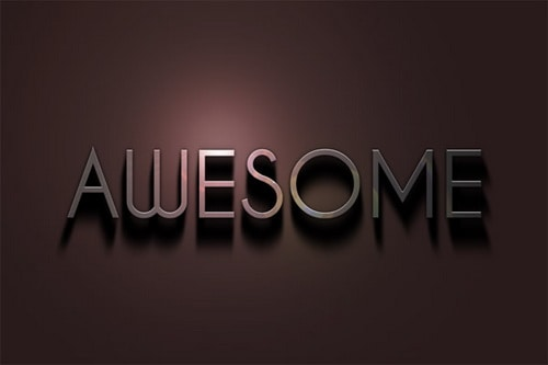 Metal Text  25+ Awesome 3D Text Effects Photoshop Tutorials