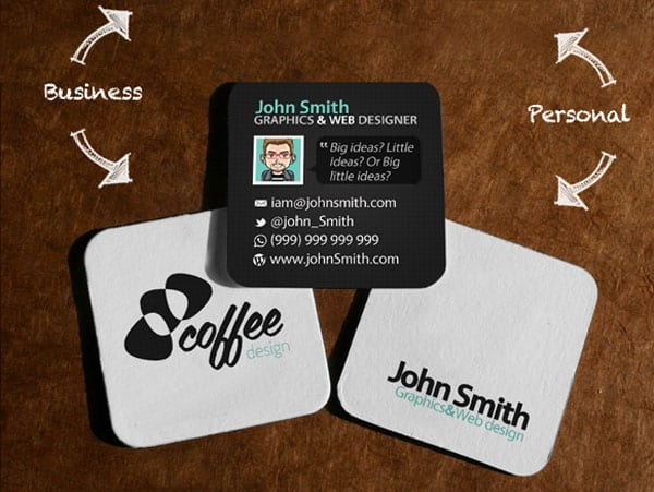 Mini Social Card 50+ Brilliant Square Business Cards