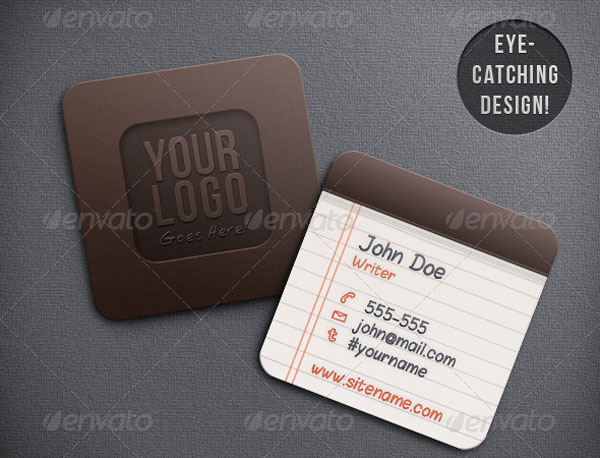 Notepad Iconic Business Card 50+ Brilliant Square Business Cards