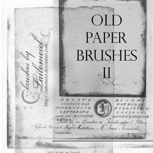 Old Paper Brushes 2 20 Old and Free Paper Brushes