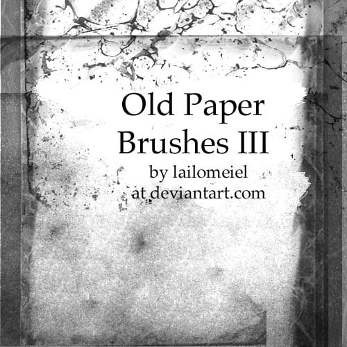 Old Paper Brushes III 20 Old and Free Paper Brushes