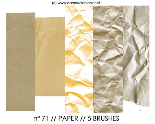 PHOTOSHOP BRUSHES   paper 20 Old and Free Paper Brushes
