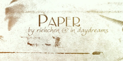 Paper Brushes by Riekchen 20 Old and Free Paper Brushes