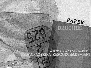 Paper Brushes by crazykira resources 20 Old and Free Paper Brushes