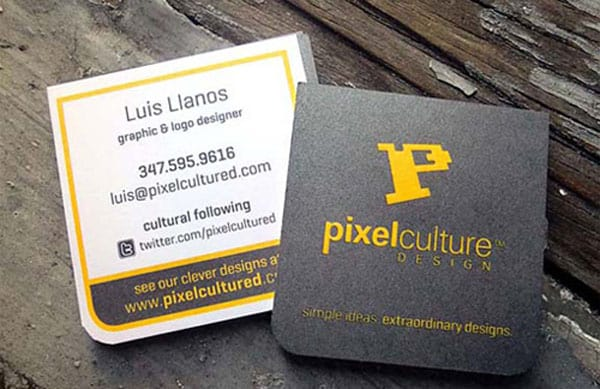 Pixel Culture 50+ Brilliant Square Business Cards