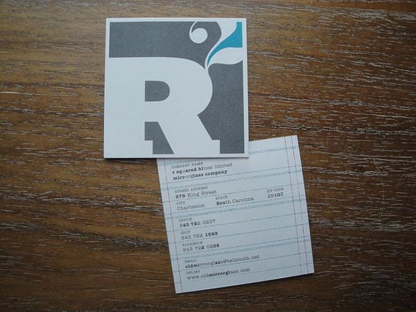 R Squared Business Cards 50+ Brilliant Square Business Cards