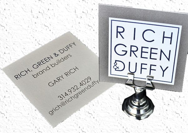 Rich Green Duffy 50+ Brilliant Square Business Cards