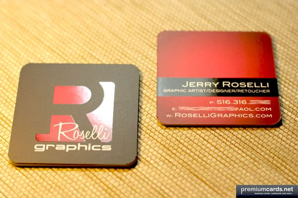 Roselli Graphics Square Business Cards 50+ Brilliant Square Business Cards