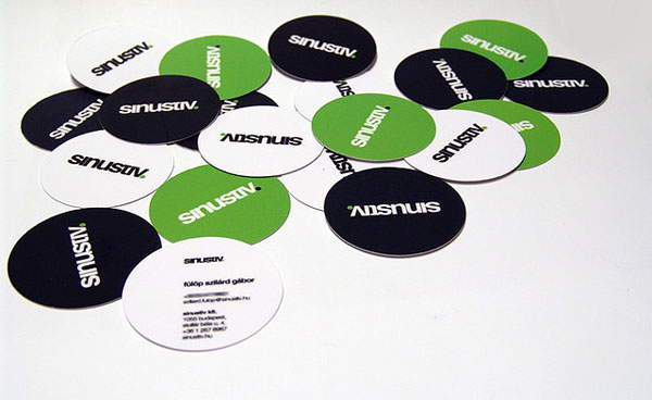 Sinustiv Business cards 30+ Creative Round Business Cards
