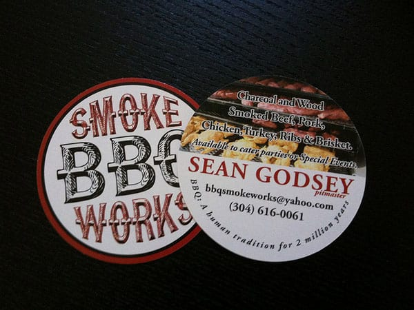 Smoke Works BBQ 30+ Creative Round Business Cards