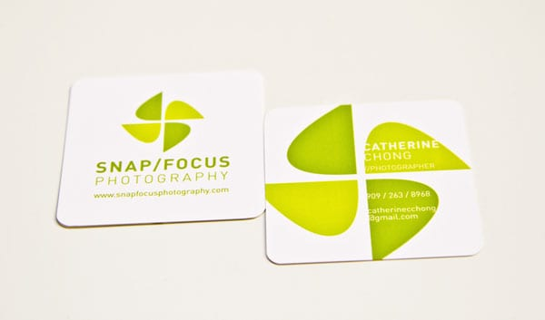 Snap Focus Photography 50+ Brilliant Square Business Cards