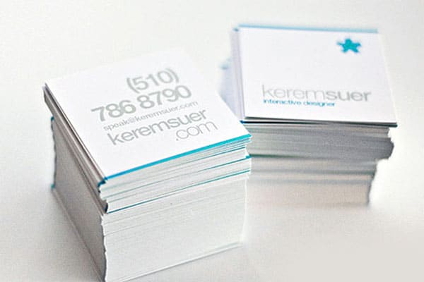 Square Business Card 50+ Brilliant Square Business Cards